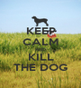 KEEP CALM AND KILL THE DOG - Personalised Poster A1 size