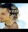 KEEP CALM AND KISS KISS - Personalised Poster A1 size