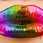 KEEP CALM AND KISS MOHAMED - Personalised Poster A1 size