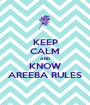 KEEP CALM AND KNOW AREEBA RULES - Personalised Poster A1 size