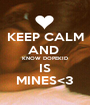 KEEP CALM AND  KNOW DOPEKID IS MINES<3 - Personalised Poster A1 size