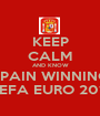 KEEP CALM AND KNOW SPAIN WINNING UEFA EURO 2012 - Personalised Poster A1 size