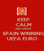 KEEP   CALM   AND KNOW   SPAIN WINNING   UEFA EURO   - Personalised Poster A1 size