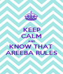 KEEP CALM AND KNOW THAT  AREEBA RULES - Personalised Poster A1 size