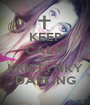KEEP CALM AND KRISTÝNKY DARLING - Personalised Poster A1 size