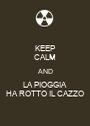 KEEP CALM AND LA PIOGGIA HA ROTTO IL CAZZO - Personalised Poster A1 size
