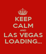 KEEP CALM AND LAS VEGAS LOADING... - Personalised Poster A1 size