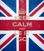 KEEP CALM AND LE IT GO - Personalised Poster A1 size