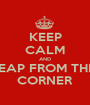 KEEP CALM AND LEAP FROM THE  CORNER - Personalised Poster A1 size