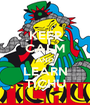 KEEP CALM AND LEARN TICHU - Personalised Poster A1 size