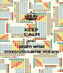 KEEP CALM AND learn what trinitrotoluene means - Personalised Poster A1 size
