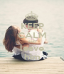 KEEP CALM AND leave him - Personalised Poster A1 size