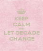 KEEP CALM AND LET DECADE CHANGE - Personalised Poster A1 size
