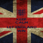 KEEP CALM AND LET ENGLAND WIN - Personalised Poster A1 size