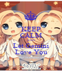 KEEP CALM AND Let Gemini Love You - Personalised Poster A1 size