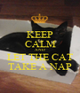 KEEP CALM AND LET THE CAT TAKE A NAP - Personalised Poster A1 size