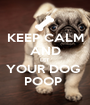 KEEP CALM AND LET  YOUR DOG  POOP  - Personalised Poster A1 size