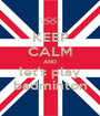 KEEP CALM AND let's play badminton - Personalised Poster A1 size