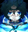 KEEP CALM AND LET'S SURVIVE - Personalised Poster A1 size