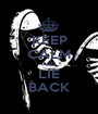 KEEP CALM AND LIE BACK - Personalised Poster A1 size