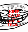 KEEP CALM AND LIKE A  TROLL - Personalised Poster A1 size