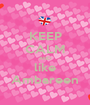 KEEP CALM AND like Ambareen - Personalised Poster A1 size
