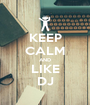 KEEP CALM AND LIKE DJ - Personalised Poster A1 size