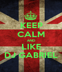 KEEP CALM AND LIKE DJ GABRIEL - Personalised Poster A1 size