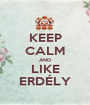 KEEP CALM AND LIKE ERDÉLY - Personalised Poster A1 size