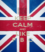 KEEP CALM AND LIKE F  B  C - Personalised Poster A1 size