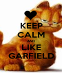 KEEP CALM AND LIKE GARFIELD - Personalised Poster A1 size