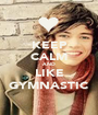 KEEP CALM AND LIKE GYMNASTIC - Personalised Poster A1 size