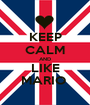 KEEP CALM AND LIKE MARIO  - Personalised Poster A1 size
