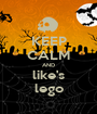 KEEP CALM AND like's lego - Personalised Poster A1 size