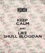 KEEP CALM AND LIKE SHULL BLOGDAN - Personalised Poster A1 size
