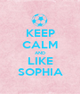 KEEP CALM AND LIKE SOPHIA - Personalised Poster A1 size