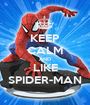 KEEP CALM AND LIKE SPIDER-MAN - Personalised Poster A1 size
