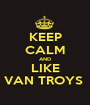 KEEP CALM AND LIKE VAN TROYS  - Personalised Poster A1 size