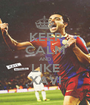 KEEP CALM AND LIKE XAVI - Personalised Poster A1 size