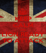 KEEP CALM AND LİON READY TO ATTACK - Personalised Poster A1 size