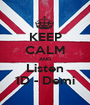 KEEP CALM AND Listen 1D - Demi - Personalised Poster A1 size