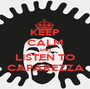 KEEP CALM AND LISTEN TO CAPAREZZA - Personalised Poster A1 size