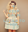 KEEP CALM AND LISTEN TO HER - Personalised Poster A1 size