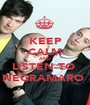 KEEP CALM AND LISTEN TO  NEGRAMARO  - Personalised Poster A1 size