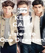 KEEP CALM AND Listen to  One Direction! - Personalised Poster A1 size