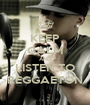 KEEP CALM AND LISTEN TO REGGAETON - Personalised Poster A1 size
