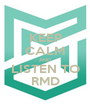 KEEP CALM AND LISTEN TO RMD - Personalised Poster A1 size