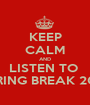 KEEP CALM AND LISTEN TO  SPRING BREAK 2013 - Personalised Poster A1 size