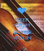 KEEP CALM AND LISTEN VIOLIN - Personalised Poster A1 size