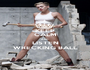 KEEP CALM AND LISTEN WRECKING BALL - Personalised Poster A1 size